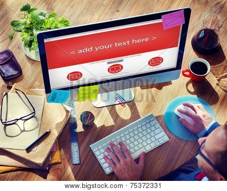 Web Designer Start up Office Design Concept