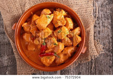 chicken cooked with curry
