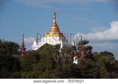 View Of Pagoda In Sagaing Hill Near Ayeyarwady River ,Myanmar.
