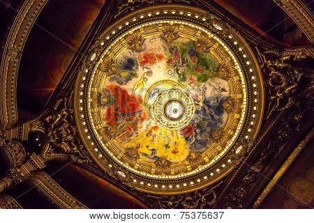 The Palais Garnier, Opera de Paris, interiors and details