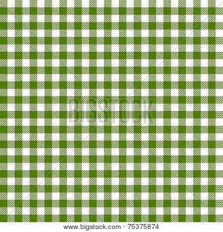 Checkered Tablecloths Pattern - Endless - Green