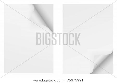 Paper With Corner - Top And Bottom