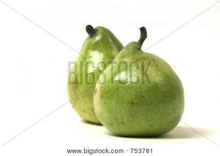 two in focus pears