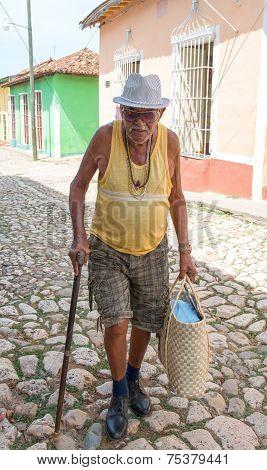 Senior Cuban Citizen In Trinidad, Cuba