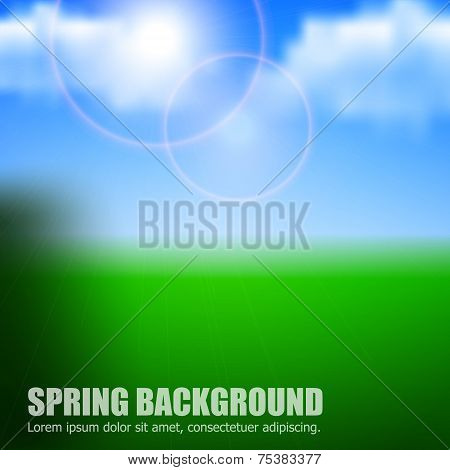 Spring or summer blue sky background