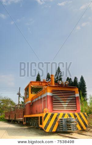 Viejo tren motor