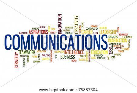 Communication business word cloud