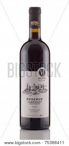 One Bottle Of Dry Red Wine Reserve Cabernet Sauvignon