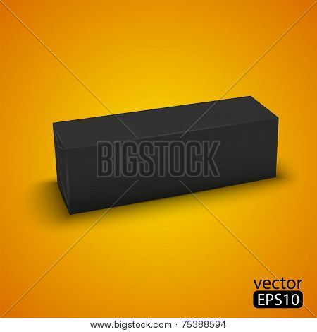 black wrap box package