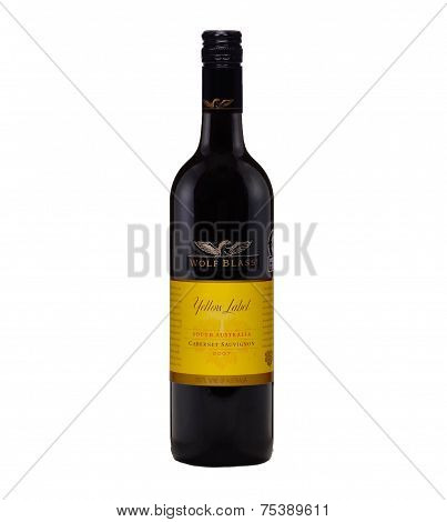 Dry Red Wine Wolf Blass Yellow Label Cabernet Sauvignon 2007