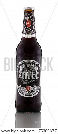 One Bottle Of Dark Lager Beer Zatec Dark