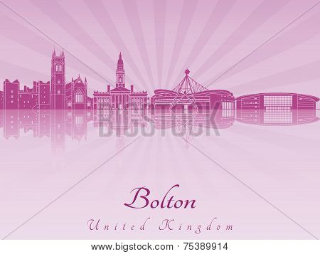 Bolton Skyline In Purple Radiant Orchid