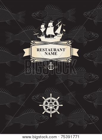 Menu with a pirate sail