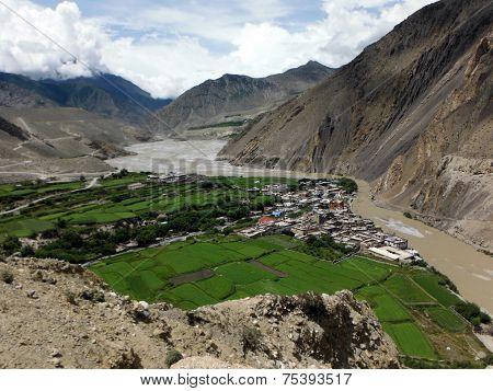 The Himalayan City Kagbeni In An Oasis