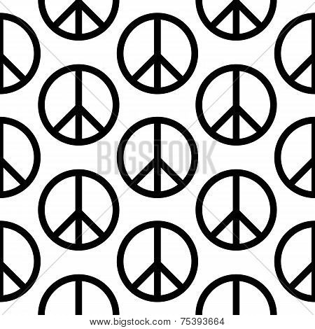 Peace Symbol Seamless Pattern