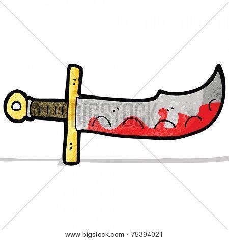 cartoon bloody sword