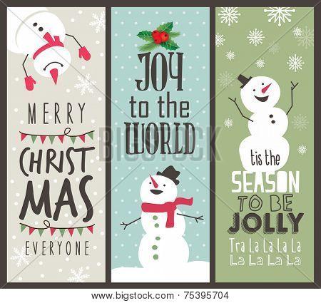 set of Christmas banner design