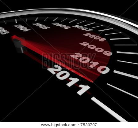 2011 - Speedometer Reaching New Year