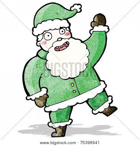 cartoon jolly santa claus