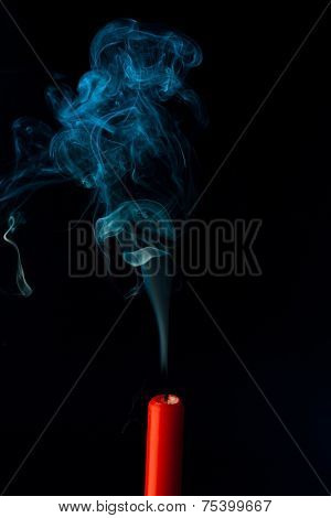 the flame of a candle was blown out. symbol of death, dying and past