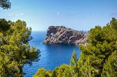picture of promontory  - Scenic view of Sa Foradada rock formation on the coastline of Mallorca or Majorca islands - JPG