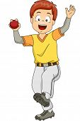 image of bowler  - Illustration Featuring a Young Cricket Bowler - JPG