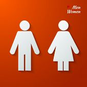 picture of toilet  - 3d Paper signs  - JPG