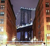 foto of brooklyn bridge  - Brooklyn Bridge, The famous bridge connect Manhattan and Brooklyn borrows. New York City, United States of America