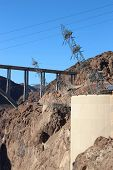 foto of hydroelectric  - Hoover Dam Hydroelectric Structure on Colorado River - JPG