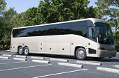 picture of motor coach  - New modern bus with tinted windows waitng for passengers - JPG