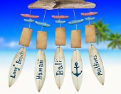 picture of chimes  - Beach Wind Chime with Copy Space  - JPG
