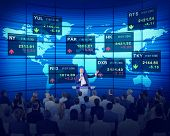 picture of seminars  - Business People Corporate Seminar Stock Exchange Finance Concept - JPG