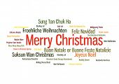 picture of weihnachten  - Merry christmas 2015 tree word tag cloud in many way - JPG