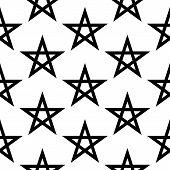 stock photo of pentagram  - Pentagram button seamless pattern on white background - JPG