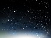 pic of starry night  - Night sky with clouds nebula vector background - JPG