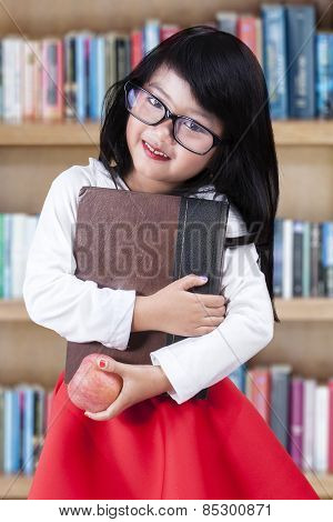 Sweet Chinese Schoolgirl In The Library