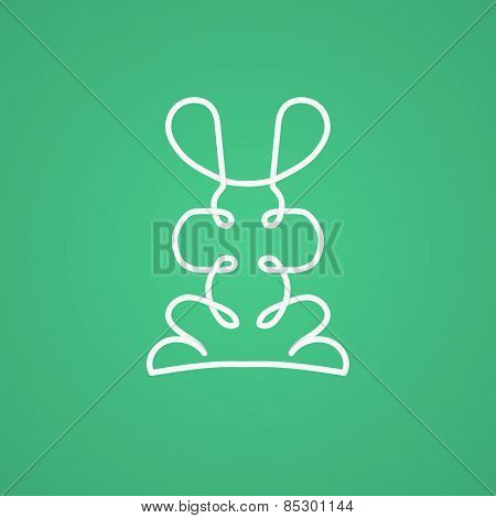 Modern Sign In Linear Design With Rabbit