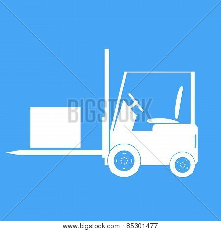 Forklift With A Load. Vector Illustration.