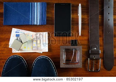 set of number mens accessories