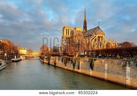 Notre Dame At Sunrise - Paris, France