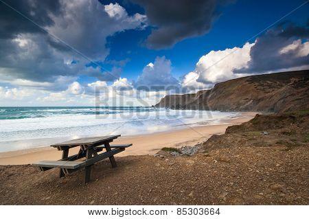 Picnic table in Algarve, Portugal