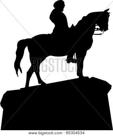 silhouette vector of the ataturk statue,