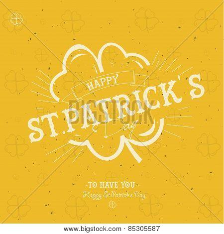 Typographic Saint Patrick Day Card