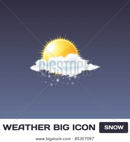 Vector Snow Icon