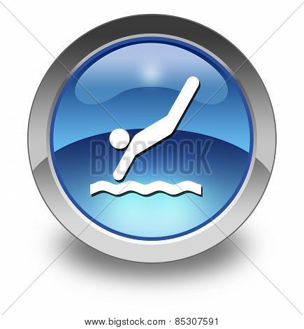 Icon, Button, Pictogram Diving