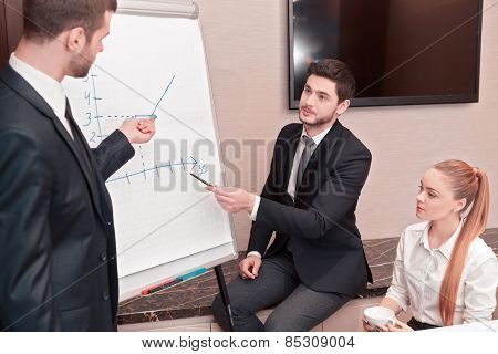 Business meeting with colleagues