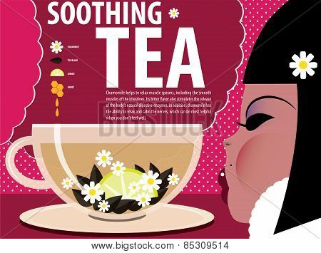 Girl Soothing tea