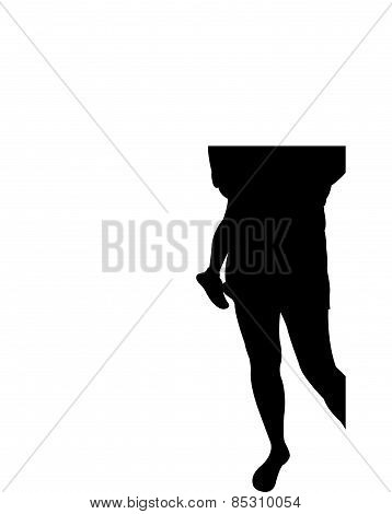 mom and son together, silhouette vector