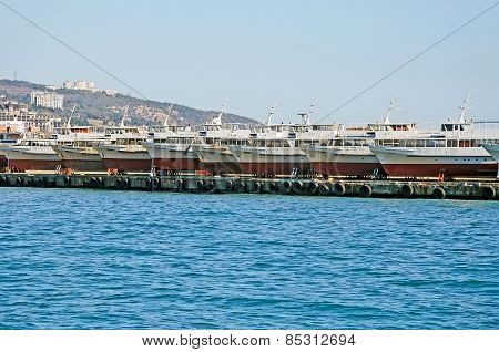 Pleasure Boats In Yalta