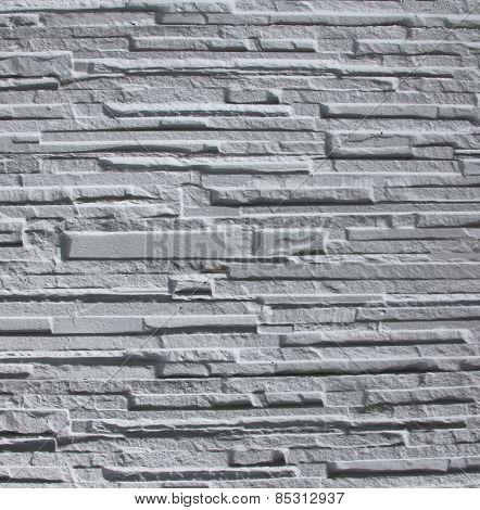White Grey Stone As Background